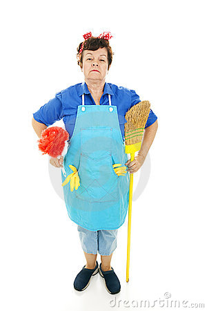 Housekeeper at Attention