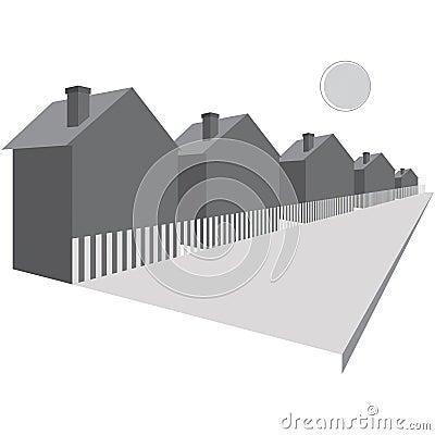 Houses along a street