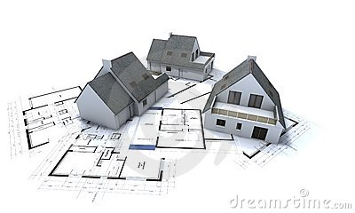 Houses on architect plan 2