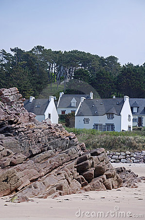Houses with beach view
