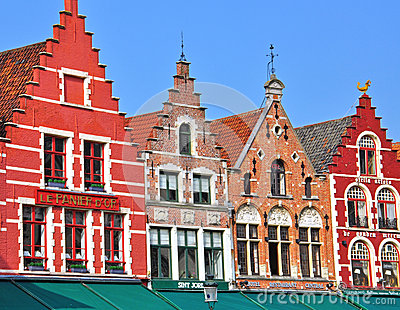 Houses of Brugge Editorial Stock Image