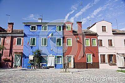 Houses in Burano Island