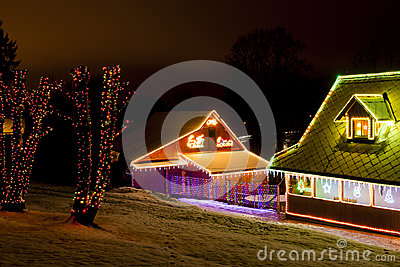 Houses at Christmas
