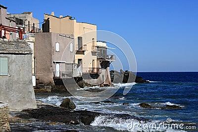 Houses on Corsican shore