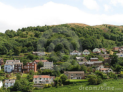 Houses On An English Hillside