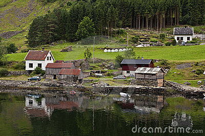 Houses on the fjord
