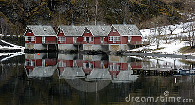 Houses of Flam, Norway