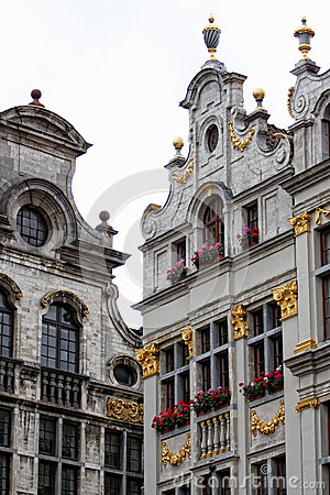 Houses of Grand-Place in Brussels