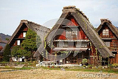 Houses in historic village Shirakawa-go,