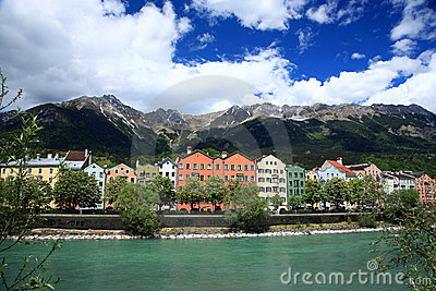 Houses in the historical city Innsbruck in Tirol