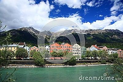 Houses in the historical city Innsbruck in Tirol