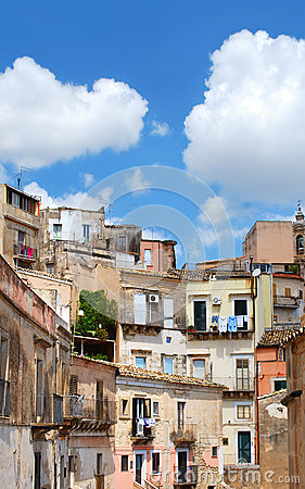 Free Houses In Ibla, Italy Royalty Free Stock Images - 68762629