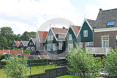 Houses on the island of Marken.