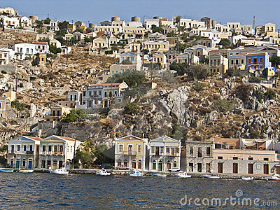 Houses in the island of Simi