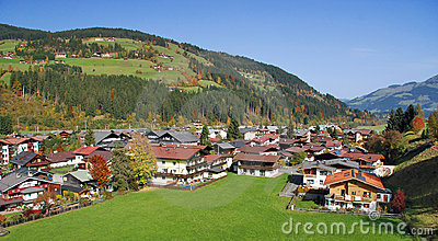 Houses at Kirchberg in tirol - Kitzbuhel Austria