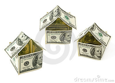 Houses made of hundred dollar notes