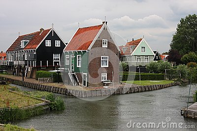 Houses in Marken, Holland
