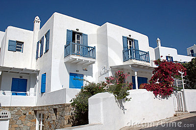 Houses on Mykonos