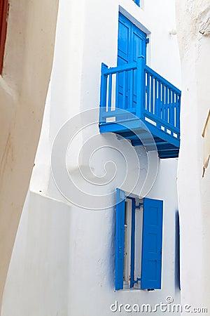 Houses of Mykonos island in Greece