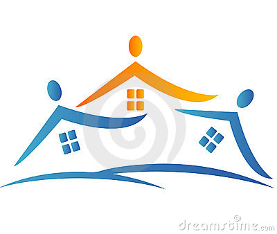 Houses neighborhood logo