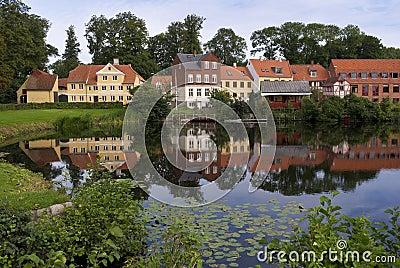 Houses Of Nyborg Denmark Royalty Free Stock Photo - Image: 15856205