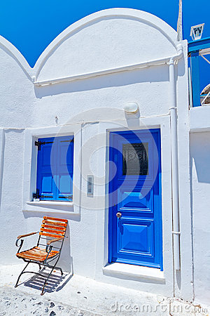 Houses of Oia village at Santorini island