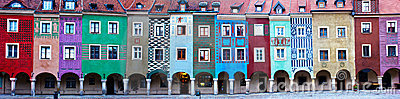Houses of old Poznan, Poland