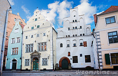 Houses in old town, Riga