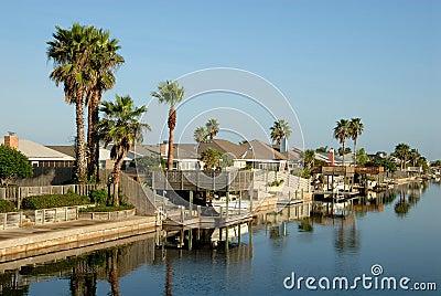 Houses on Padre Island, Texas USA