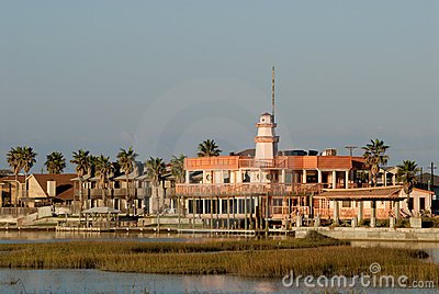 Houses on Padre Island, USA