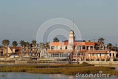 Houses on Padre Island, USA