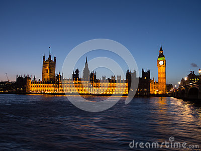 Houses Of Parliament In London At Night