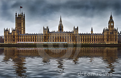 Houses of Parliament in London England