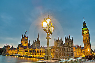 Houses of Parliament at London, England