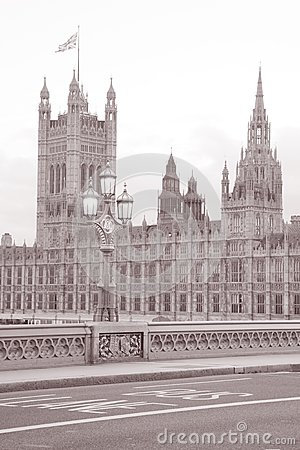 Houses of Parliament from Westminster Bridge; London