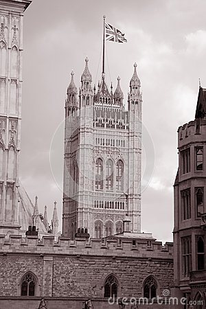 Houses of Parliament at Westminster; London