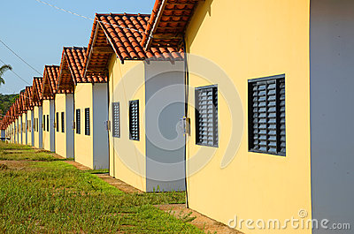 Houses in row