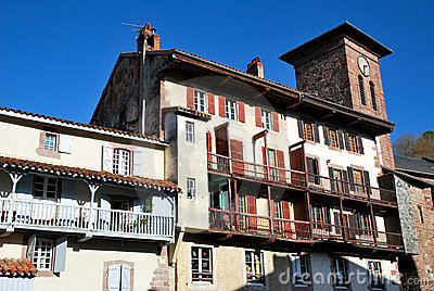 The houses Saint-Jean-Pied-de-Port village