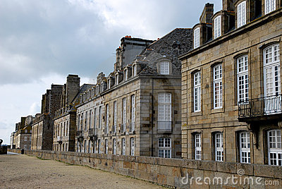 The houses of Saint-Malo