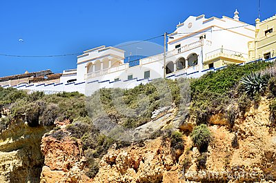 Houses on the top of a cliff