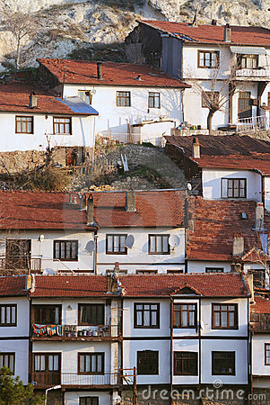 Houses in village, anatolia, turkey