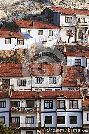 Houses in village, anatolia, turkey