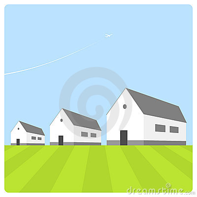 Free Houses With Blue Sky Royalty Free Stock Photography - 6208207
