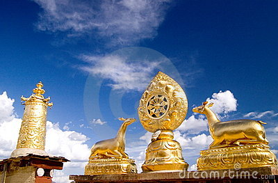 Housetop Of Tibet Temple Stock Photography - Image: 5718602