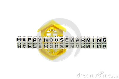 Housewarming message with yellow home