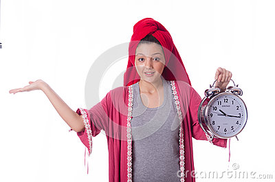 Housewife with clock