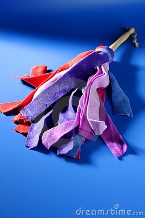 Housewife colorful duster cleaning tools