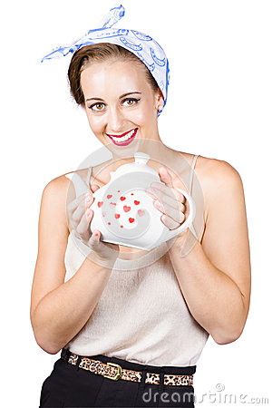 Housewife with teapot