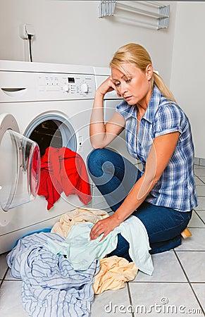 Housewife washing