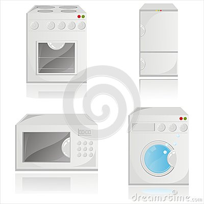 Housework electronics icons
